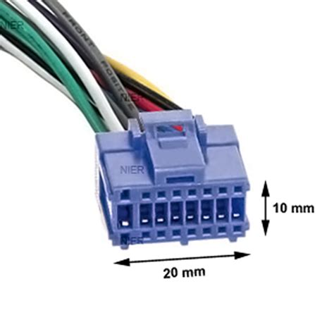 adapter cable pioneer car radio din iso blue