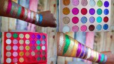 kara glitter new kara cosmetics galaxy shimmer glitter palettes swatches