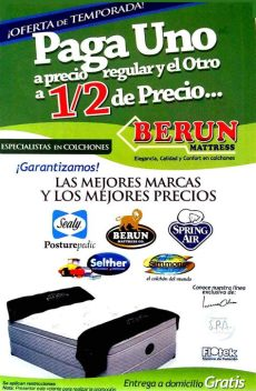 berun colchones tijuana berun matress en mexicali anunciado por zonacomercial mx tiendas en mexicali elegancia