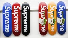 supreme skateboard deck collection supreme meets sotheby s the complete collection of skateboard decks