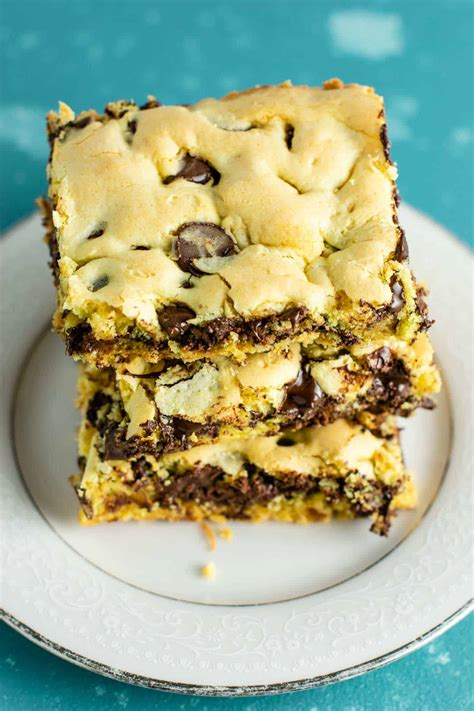 easy cake mix cookie bars build bite