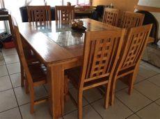 comedores bonitos de madera comedor de madera de 8 sillas bueno bonito y barato 6 100 00 en mercado libre