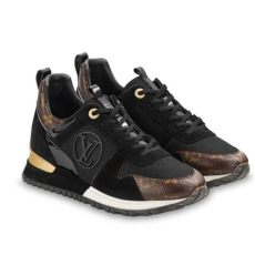 louis vuitton shoes harga louis vuitton black and gold run away sneakers size eu 37 approx us 7 regular m b tradesy