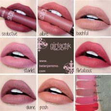 girlactik beauty matte lip paint 187 girlactik matte lip paint mimo makeup swatches matte