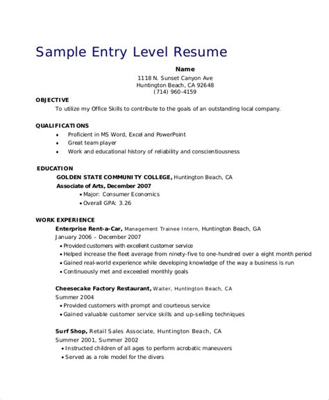 retail resume objective 5 exles word