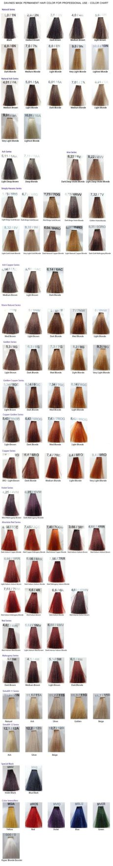 davines mask color chart hair - Davines Mask With Vibrachrom Color Chart