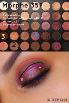 morphe 35n palette looks step by step morphe 35f palette look step by step tutorial https youtu be ov2tvq9lhwo makeup morphe eye