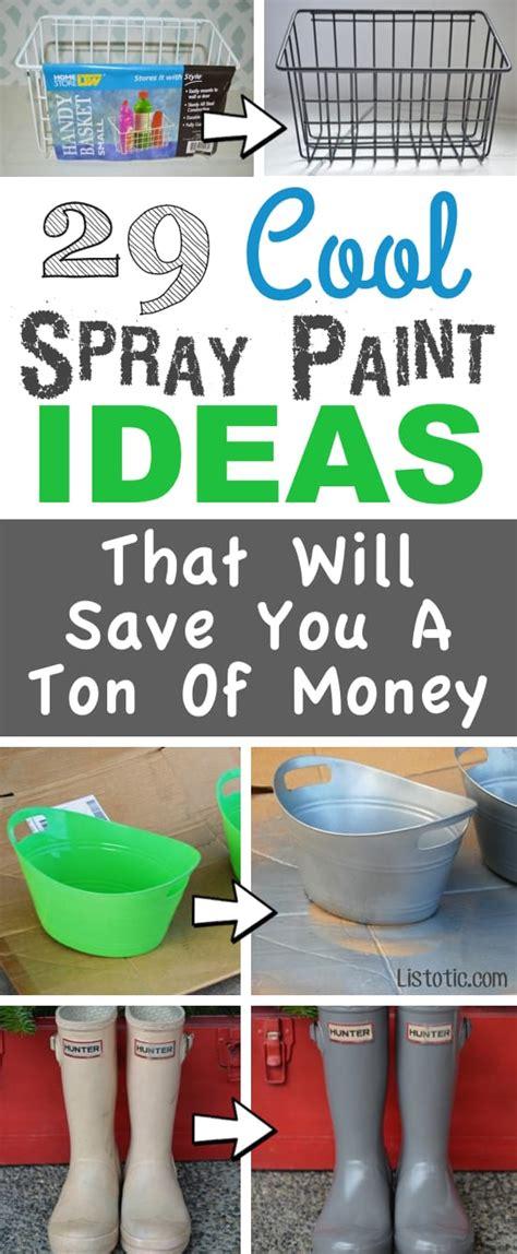 29 easy spray paint ideas save ton money