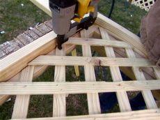 installing lattice fence panels installing deck lattice how tos diy