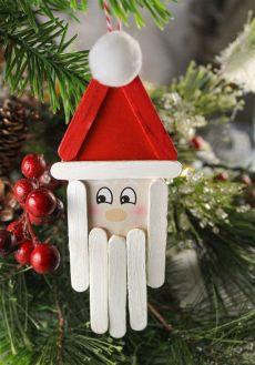 diy craft stick santa snowman craft for kids popsicle stick santa craft for the craft patch