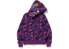 bape shark full zip hoodie bape color camo shark zip hoodie purple