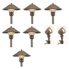 hton bay lighting kit hton bay iwv6628l low voltage bronze outdoor integrated led light kit 8 pack vip outlet