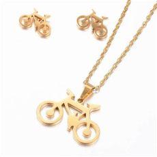 acero inoxidable joyeria cuidados joyer 237 a acero inoxidable bicicleta dorado aretes 259 00 en mercado libre