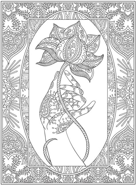 henna coloring page dover publications http www