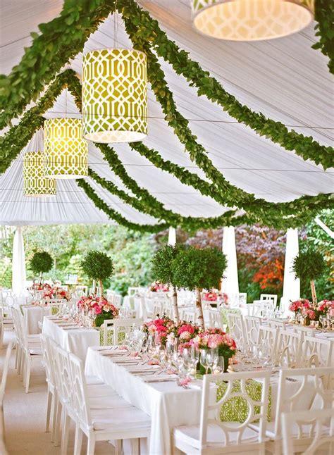 7 ways add garland wedding tent decorations tent