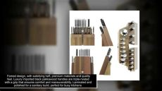 dalstrong gladiator series german steel knife block set 18 pc dalstrong knife set block gladiator series colossal knife set german hc steel 18 pc walnut s