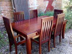 comedor de 6 sillas de cedro moderno y elegante comedor en madera de cedro 6 sillas 16 000 00 en mercado libre
