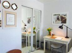 mirrored closet door makeover - Ways To Update Mirrored Closet Doors