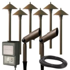 hton bay landscape lighting kit hton bay low voltage aged brass outdoor halogen landscape path light and spot light kit with