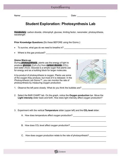photosynthesis gizmo
