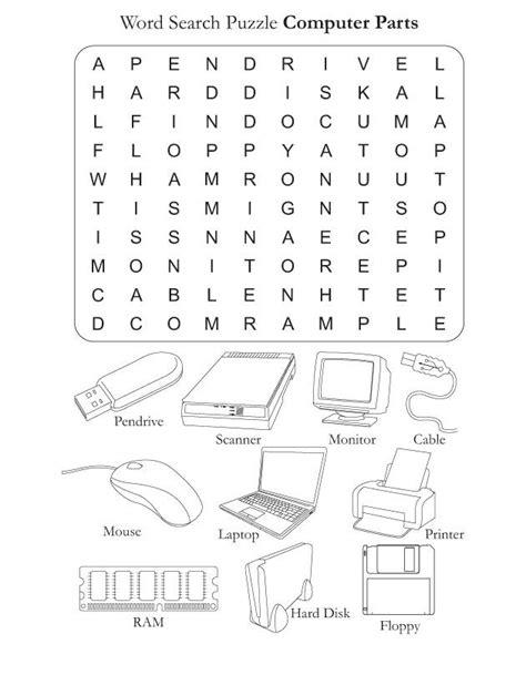 parts computer worksheets computer parts download free word