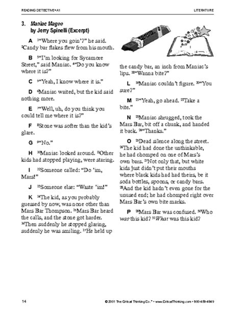 critical thinking worksheet grades 3 5 reading detectives