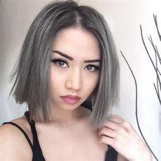 graue strahnen in dunkle haare farben haare grau f 228 rben ein trend mit hohem preis
