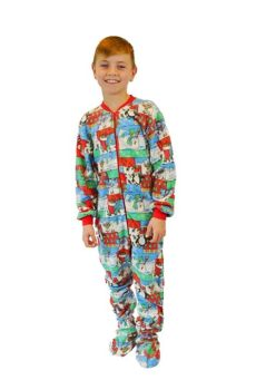 boy foosites for kids boys winter onesie footie fleece pajamas big onesie footed