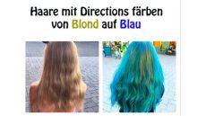 directions haare farben haare f 228 rben mit directions naturblond zu blau