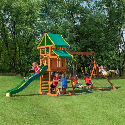 backyard discovery swing set tucson cedar wooden outdoor
