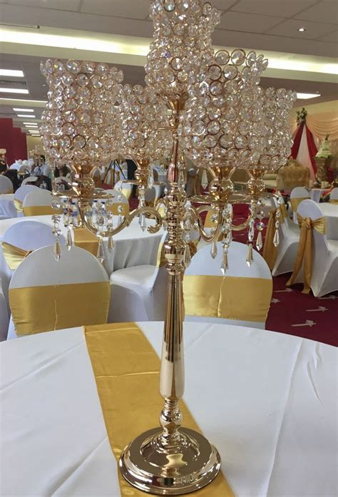 secondhand prop shop candelabra candle holders 5x gold