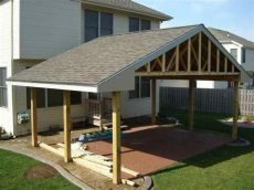 cost to build a covered patio attached to a house attached covered patio ideas pits patio patios and patio roof