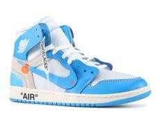 air jordan retro 1 off white blue white air 1 retro high blue unc kickstw