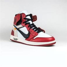 off white jordan 1 red on feet nike x white air 1 chicago crepslocker