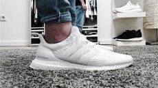 white adidas ultra boost on feet adidas ultra boost 3 0 white unboxing review on vlog 03