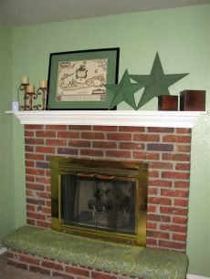 clever faeries diy upholstered fireplace cushion - Diy Fireplace Hearth Cushion