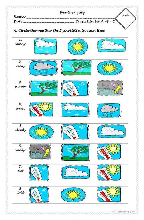 weather quiz worksheet free esl printable worksheets teachers
