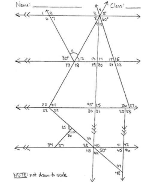 determine missing angle measures worksheets haude tutoring tpt