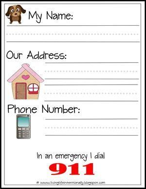 free learn address printables preschool learning kindergarten prep