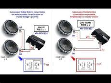 como conectar un subwoofer a un minicomponente como conectar un woofer de doble bobina