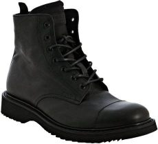 prada combat boots mens prada black calfskin cap toe lace up combat boots in black for lyst