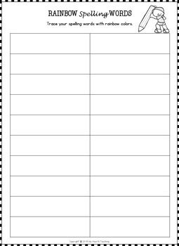 editable spelling worksheets spelling activities 20 word list