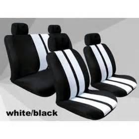 amazon white black stripe car seat cover universal