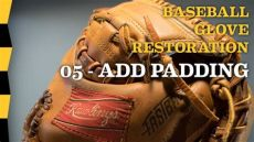 baseball glove padding replacement how to add padding to baseball glove 05 add padding diy baseball glove repair