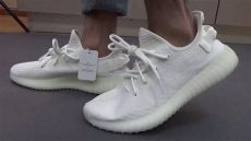 yeezy boost 350 v2 white on feet adidas yeezy boost 350 v2 white on foot