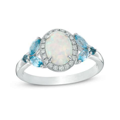oval lab created opal white sapphire frame london