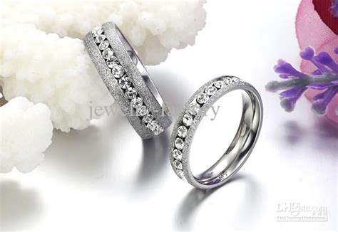 2019 dull polish diamon couple rings wedding jewellery
