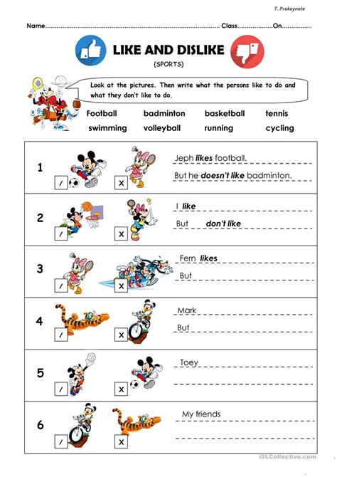 dislike english esl worksheets distance learning physical classrooms