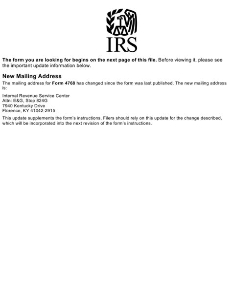 irs form 4768 download fillable fill online application