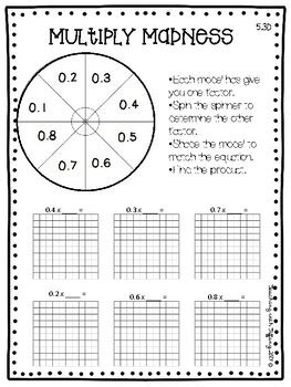5th grade math enrichment printables teks aligned teaching